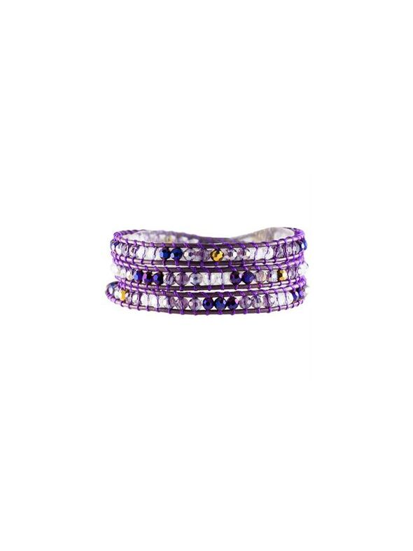Violet Crystal Beaded Wrap