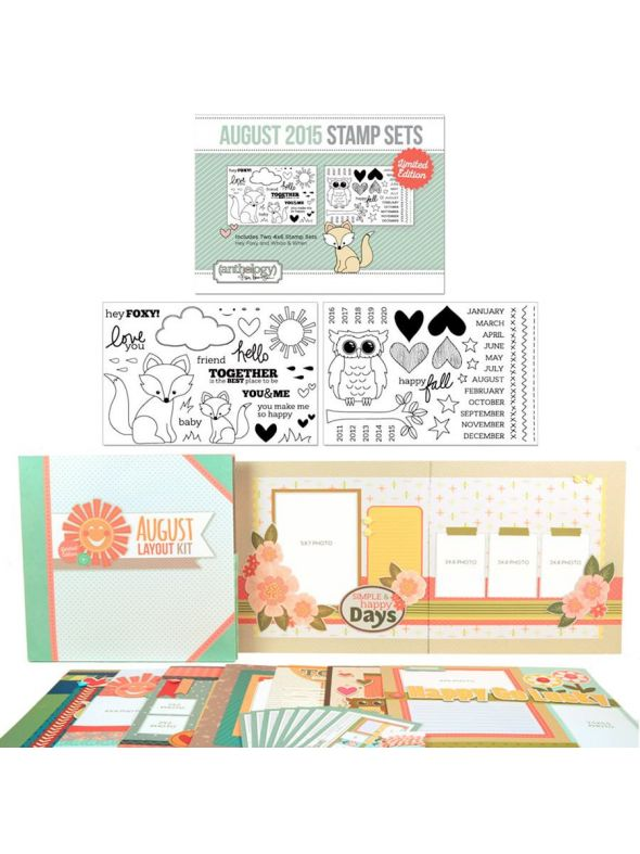 August Layout Stamp Bundle